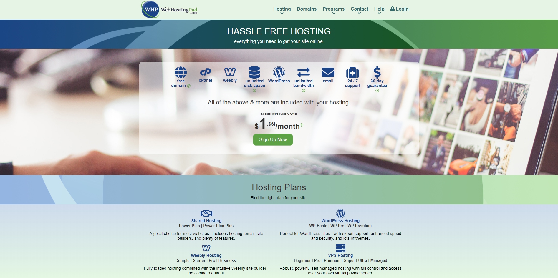 Web Hosting Pad Review by top10ukwebhosting.uk